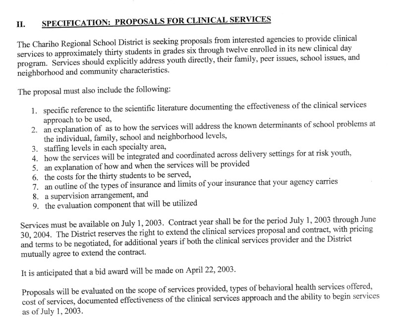 Doc600730 Request for Proposal Example Request For Proposal – Request for Proposal Example